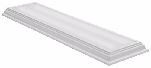 Lithonia Lighting White 4-Ft LED Flush Mount, 4000K, 35.5W, 2,800 - Light Fluorescent White Ceiling