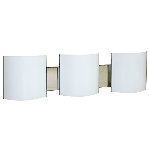 Y Decor L260 3-Light Brushed Nickel Bath (Soho Nickel Three Light)