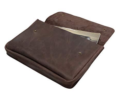 - Genuine A4 Size Vintage Leather Folder, Document Holder, Office Paper File case,Leather Folder for Papers and documents, Leather Folio, Portfolio, Business Gift (Brown)
