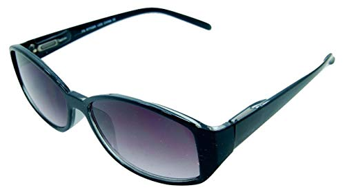 In Style Eyes Stylish Full Reader Sunglasses Black 4.00 Strength ()