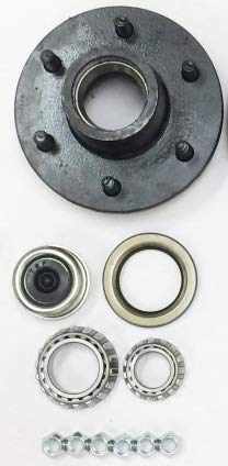 eCustomhitch Trailer Wheel Hub Complete Kit Steel 6 Lug on 5.5 in. 84 Spindle 3500 Lb.