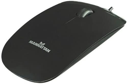 Black Manhattan 177658 Silhouette Optical Mouse