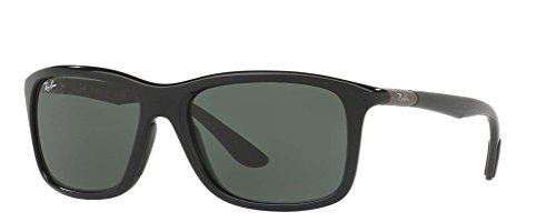 Ray-Ban Men's RB8352 Sunglasses Black / Dark Green - Sunglasses Ray Rectangular Ban
