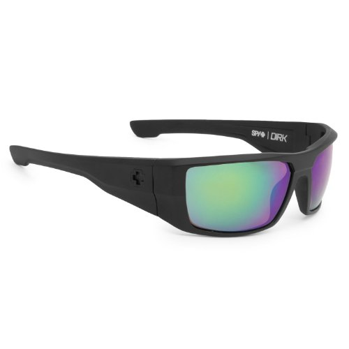 Spy Dirk Polarized (Matte Black/Happy Bronze/Green Spectra) - Sunglasses General Spy