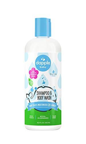 Buy DAPPLE Baby Shampoo & Body Wash, Fragrance Free Baby Shampoo and Body Wash, Sulfate-Free, Hypoallergenic, 16.9 Fluid Ounces Singapore