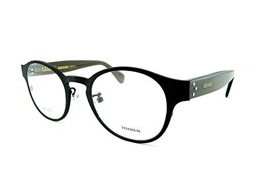 Celine Prescription Eyeglasses 1503/J (48 (DRZ - Matte Dark - Glasses Prescription Celine