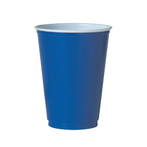 Solo M22B 12 oz Plastic Party Cup - Blue (Case of 1000)