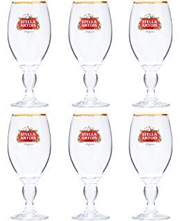 Stella Artois 50 Cl Beer Glasses Set of 6