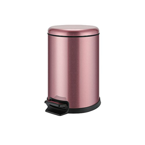 Shi xiang shop Brushed Stainless Steel Step Trash Can With L