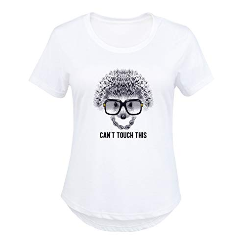 ac2159125c13d HARPER & QUINN Cant Touch This Hedgehog - Ladies Plus Size Scoop Neck Tee  White