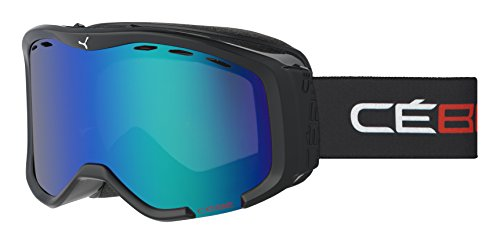 Cebe Cheeky OTG Ski Goggle - Kid's Black/Red with Brown Flash Blue - Cebe Otg Ski Goggles