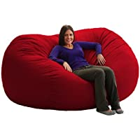 Comfort Research 7-Feet Long XXL Fuf Chair Red Twill