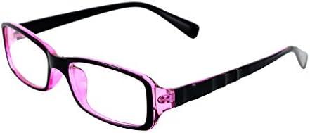 ユニセックス UV400 保護 メガネ 眼鏡 クリア パープル フレーム 5.5 X 3.5センチメートル
