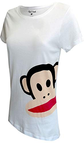 Paul Frank Women's Tee with Big Julius, White, - Frank Womens Pajamas Paul