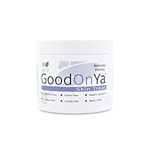 Manuka Honey Cream - The Original UMF Certified Moisturizer by GoodOnYa Skin Care Products with Coconut Oil, Vitamin C, Vitamin E, Aloe Vera – Best Natural Day Lotion Guaranteed (4oz)