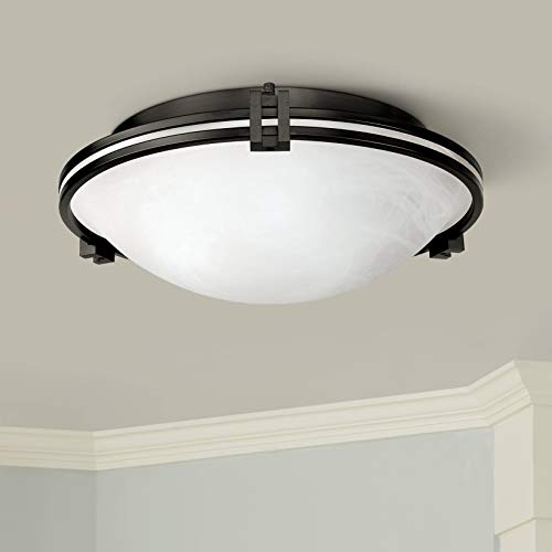 Deco Modern Ceiling Light Flush Mount Fixture Oil Rubbed Bronze 16 3/4