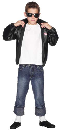 Smiffys Boys Grease T-Bird/T-Birds Jacket Fancy Dress Costume M