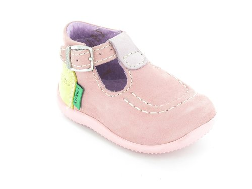 Kickers Baby Girls' First Walking Shoes Pink pink 19: Amazon.co.uk ...