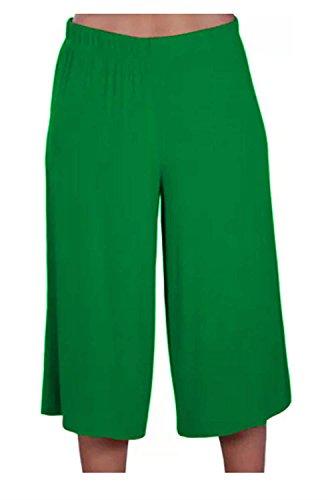 Culottes Jambe Court Pantalon 36 Jade Longueur Femmes Nouveau 54 Décontractée Vaste Green 4 Chocolate Plaine Pantalons Pickle 3 xH8Yw74q0