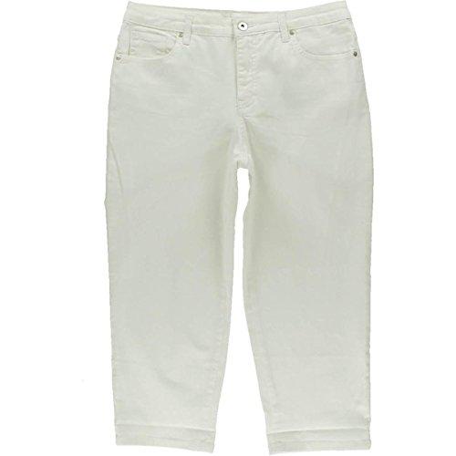 Style & co. Women's Tummy-Control Cuffed Capri Jeans (10, Bright - Cuffed Pants Career