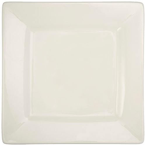 Maxwell and Williams Basics Square Dinner Plate, White