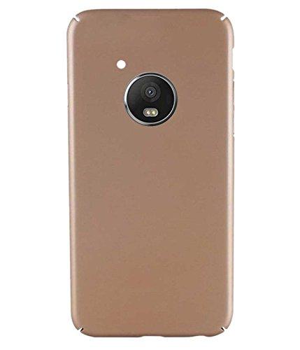 RRTBZ All Sides Protection Hard Back Case Cover Compatible for Motorola Moto G5 Plus  Golden