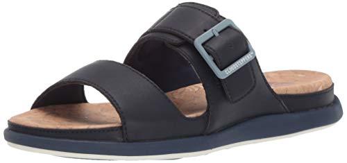 CLARKS Women's Step June Tide Sandal, Navy Synthetic, 120 M US (Navy Blue Thong Sandals)