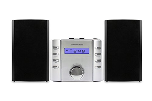 Sylvania SRCD804BT CD Microsystem with Radio and Bluetooth (Silver) by Sylvania