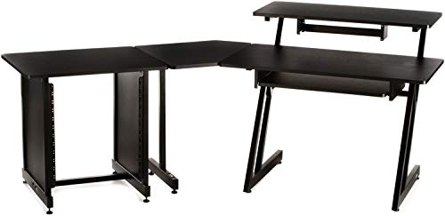 On-Stage Stands WS7500 Complete System - Black (Keyboard Desk Workstation)
