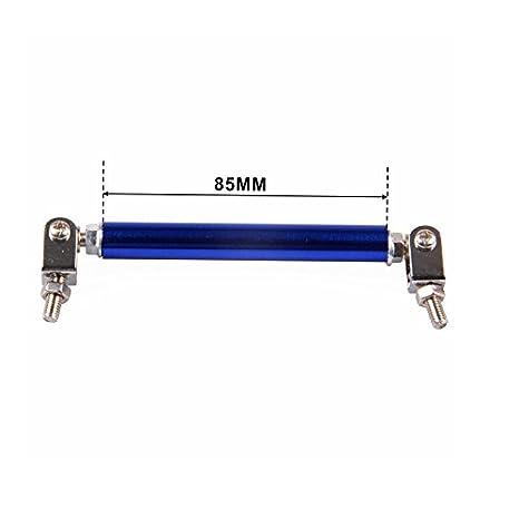 BEESCLOVER 2PCS 8.5cm Adjustable Front//Rear Wind Splitter Frame Bumper Protector Rod Support Black