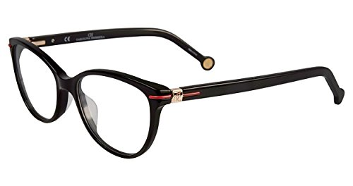 Carolina Herrera Designer Reading Glasses VHE660K-0700 in Shiny Black 52mm by Carolina Herrera