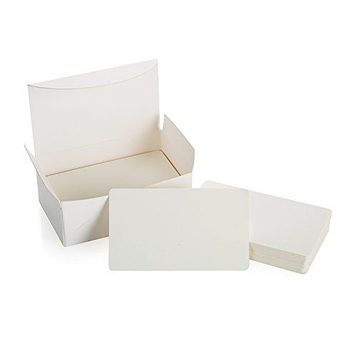 ZOOYOO Blank White Cardboard paper Message Card Business Cards Word Card DIY Tag Gift Card 100 PCS (White)