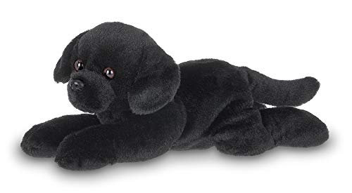 Bearington Lil' Jet Small Plush Black Labrador Retriever Stuffed Animal Puppy Dog, 8 inches
