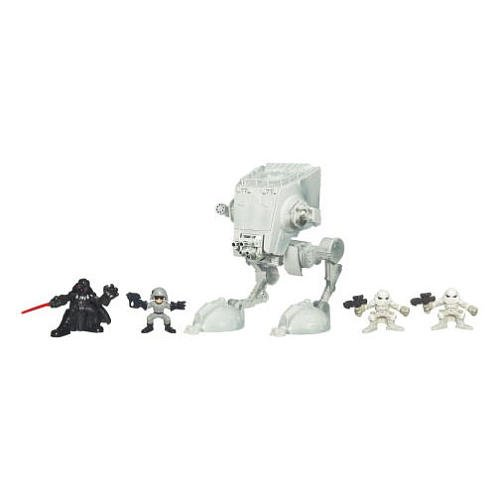 (Star Wars Galactic Heroes Deluxe Cinema Scene Mini Figure Multi Pack Hoth AT-ST Assault)