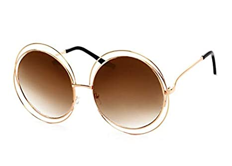 05385b0eb Punkl Fashion Round Vintage Sunglasses Metal Glass Frame For men women