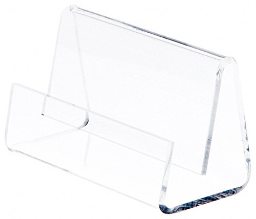 "Plymor Brand Deluxe Clear Acrylic Business Card / Post Card Holder, 3.5"" W x 2.875"" D x 2.125"" H"