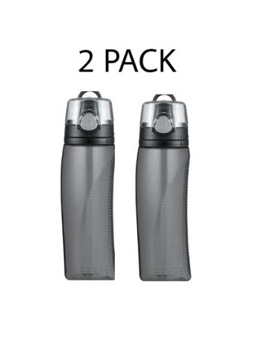 Set of 2 Thermos Nissan Intak Hydration Bottle with Meter (Smoke, 24 oz)