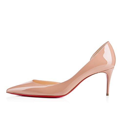 Caitlin da mm Tacchi a e Eleganti Tacco 85 Donnacarpe Alti Rossa Nude Spillo Side Pan con Suola wpwTgq