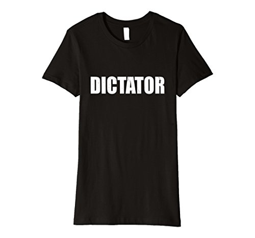 Womens Dictator T Shirt Halloween Costume Funny Cute Distressed Small (Dictator Costume Women)