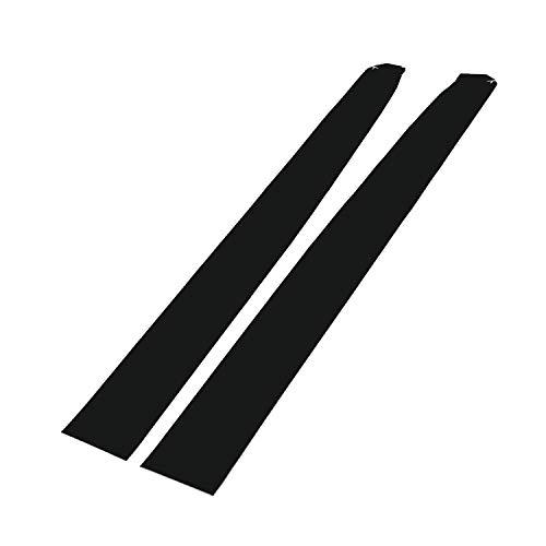(for Tesla Model 3 Dashboard Wood Wrap Cover Stickers Interior Matte Deep Black Vinyl Wrap Kit(Matte Black))