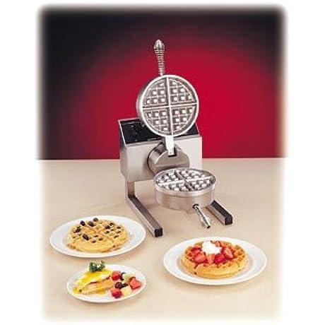 Nemco 7020A 1S Fixed Grid Belgian Waffle Baker W Silverstone