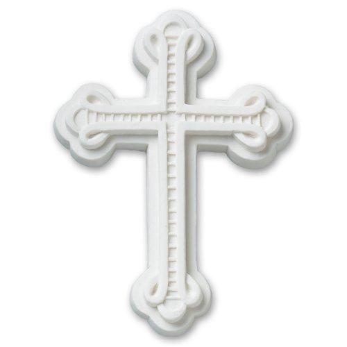 DecoPac Gum Paste Ornate Cross (3 Count), White