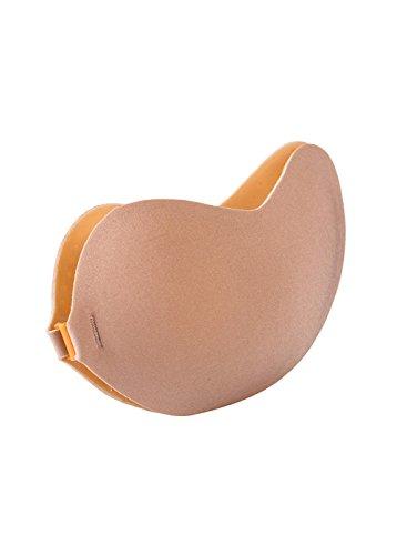 Oslim - Sujetador autoadhesivo Push Up invisible sin costuras ni espalda, copas A/B/C/D , color negro nude Nude-Mango