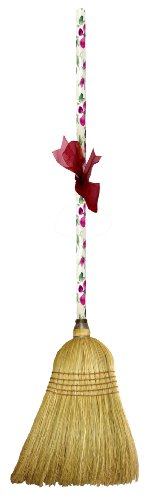 Usa Made Corn (Cute Tools Garden Broom - Landscaping Instrument, Sweep and Dust With This Garden Accessory, Hand Painted Wooden Broomstick In The USA, Durable Yard and Gardening Equipment From CuteTools! - Art For A Cause, Rose Floral)