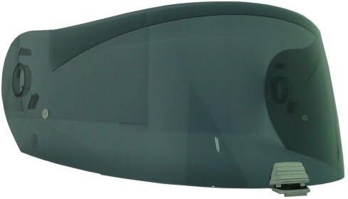 HJC HJ-25 Shield / Visor Gold,Silver,Blue,Smoke,Clear,Pinlock Ready, For R-PHA MAX helmets, Bike Racing Motorcycle Helmet Accessories - Made in Korea (Smoke)