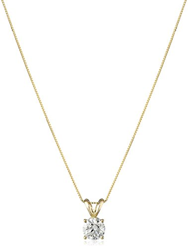 Color Si2 Clarity Lab - IGI Certified 14k Yellow Gold Lab Created Solitaire Pendant Necklace (3/4cttw, I-J Color, SI1-SI2 Clarity), 18