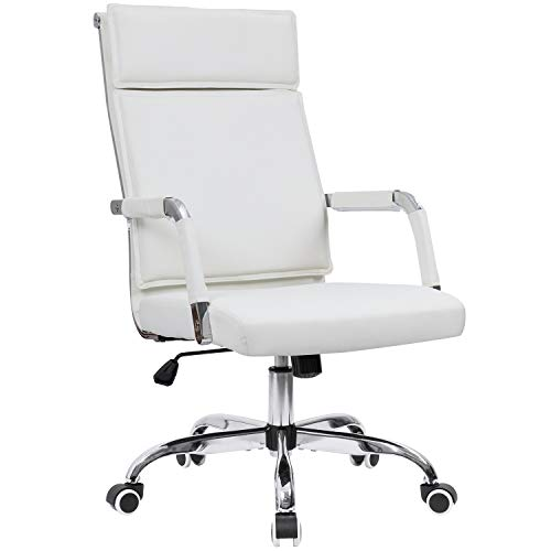 furmax ribbed office chair high back pu leather executive conference