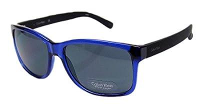 Calvin Klein R686S 414 Blue Black Frame Grey Lens Mens Sunglasses