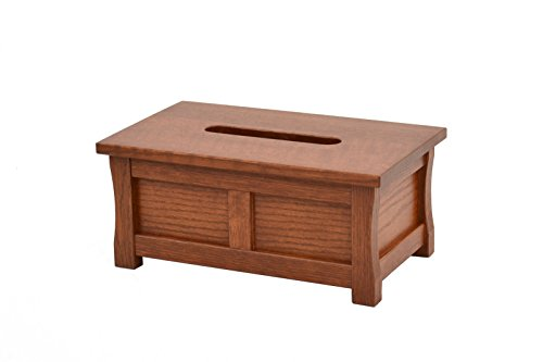 Wooden tissue box holder. Mission style. Oak. TE-823