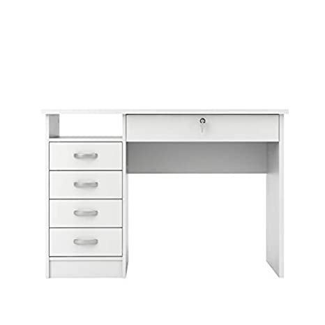 Tvilum Walden Desk with 5 Drawers, White